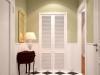 деревянная жалюзийная дверь