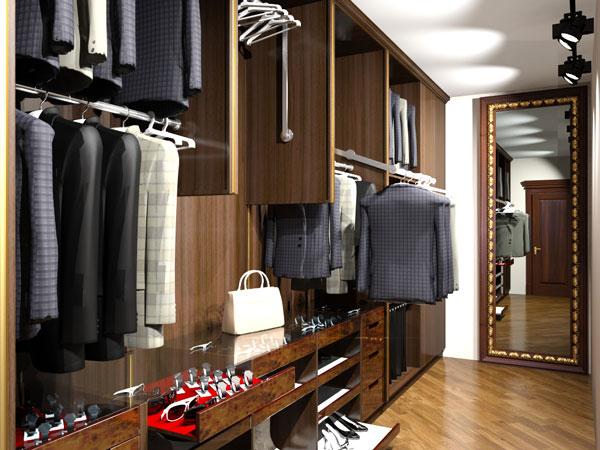 гардеробная комната из дерева