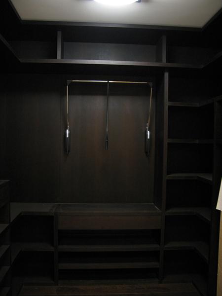 Гардеробная комната массив венге
