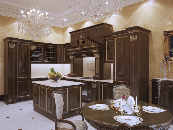 кухня с элементами резьбы