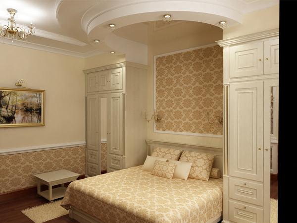 Шкаф в спальне с пилястрами