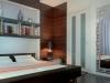 встроенный шкаф в спальню шпонированными фасадами