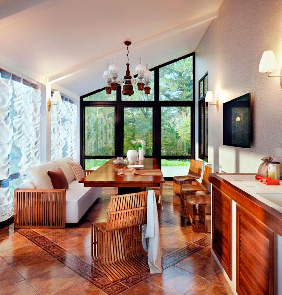 стол в гостиную из массива ореха