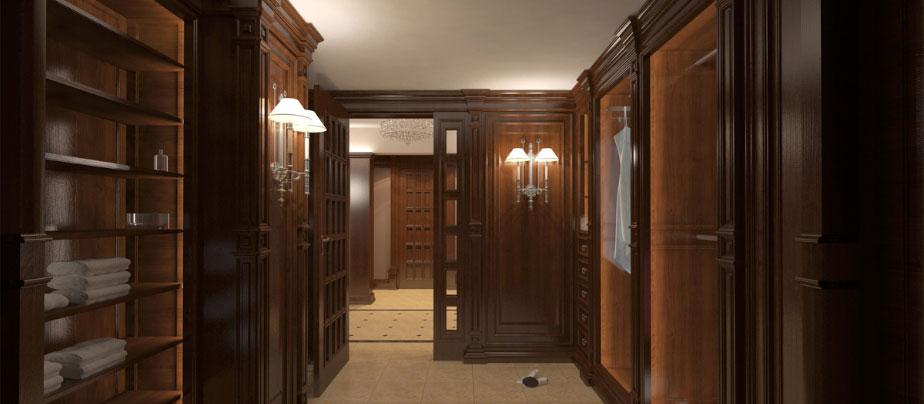 Отделка кабинета деревом частном доме