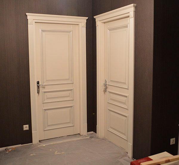 Изготовлены деревянные двери на заказ