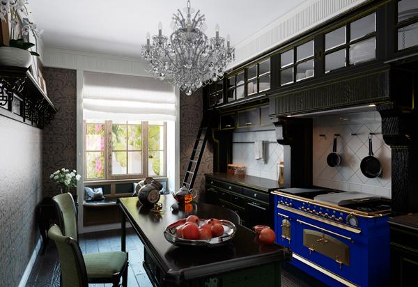 Кухня с состаренная