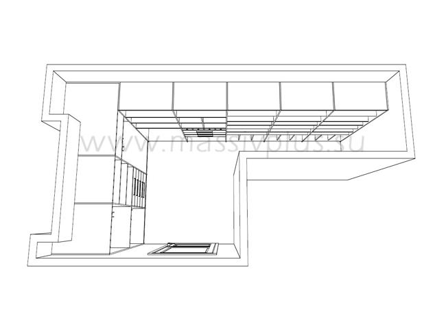 Дизайн проект маленькой гардеробной