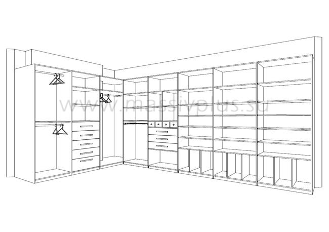 Гардеробные комнаты по дизайн проекту