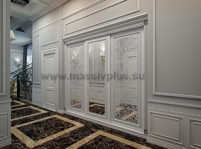 Гардеробные с раздвижными дверями