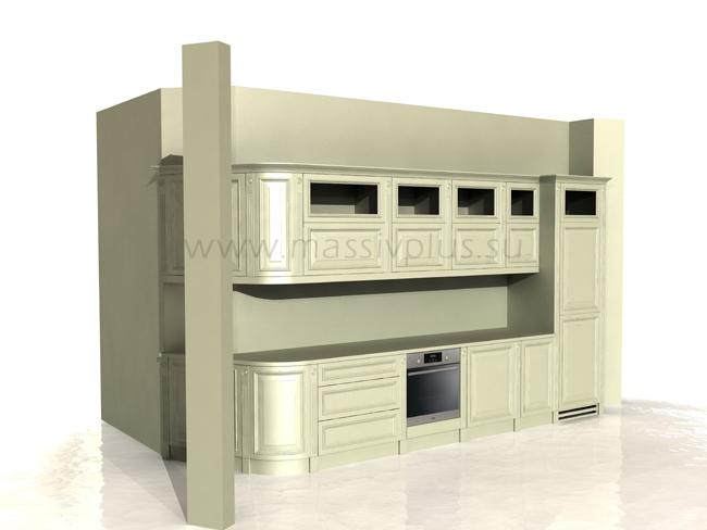Кухня с филенчатыми фасадами