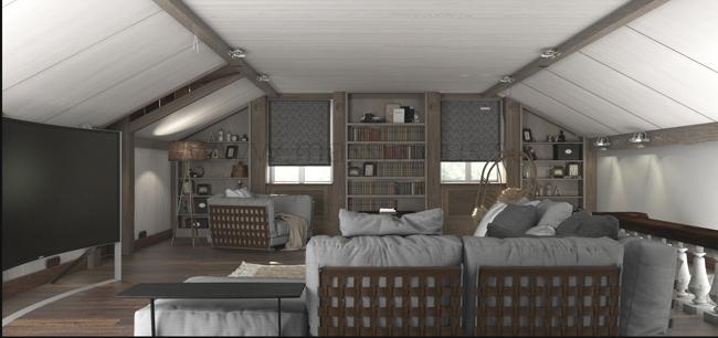 Мебель в интерьере из массива