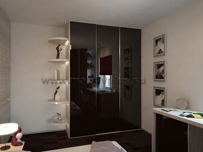 Шкафы с глянцевыми дверями